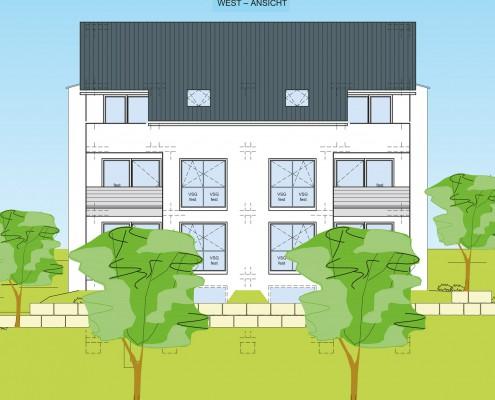 6-Familienhaus in Brackenheim-Hausen - West-Ansicht