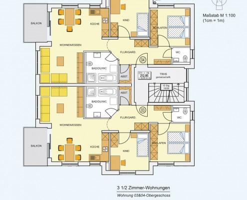 6-Familienhaus in Brackenheim-Hausen - Obergeschoss-Wohnung mit 3,5 Zimmer