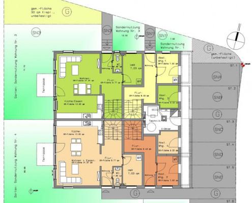 Phisto Wohnbau GmbH & Co. KG - Mehrfamilienhaus mit 4 Wohneinheiten in Freiberg am Neckar