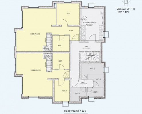 6-Familienhaus in Brackenheim-Hausen - Untergeschoss, Hobbyräume 1 & 2